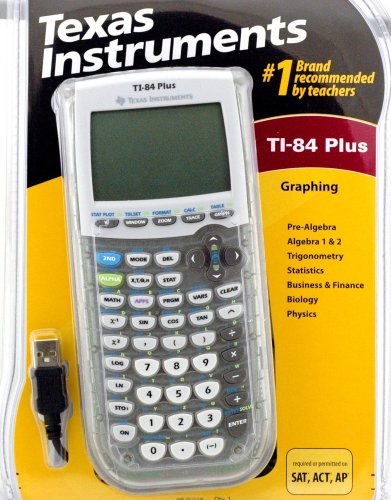 Texas Instruments TI-84 Plus Graphing Calculator (Clear Edition)