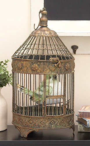 Deco 79 Metal Bird Cage, 24-Inch and 16-Inch, Set of 2 1
