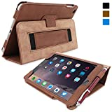Snugg iPad Mini 3 Case - Smart Cover with Flip Stand & Lifetime Guarantee (Distressed Brown Leather) for Apple iPad Mini 3 (2014)