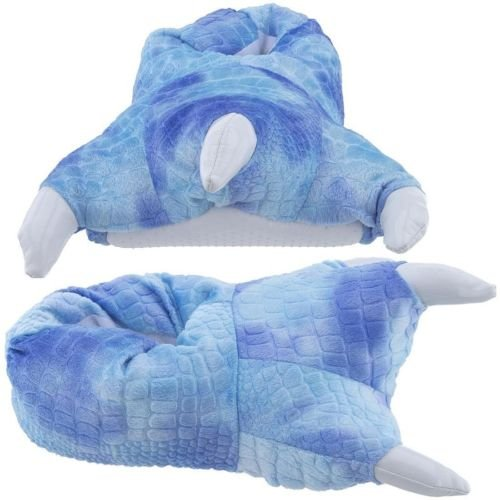 Costume & Cosplay : 5-9.5 Animal Dinosaur Godzilla Paw Claws Monster Feet Soft Plush Stuffed Warm Winter Home Slippers Pajamas Party Shoes for Unisex Adult Mens Womens (Blue)