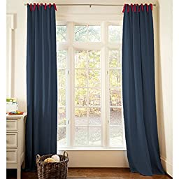 Carousel Designs Navy and Red Drape Panel 64-Inch Length Standard Lining 42-Inch Width