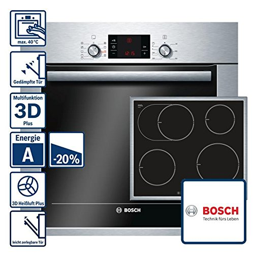 bosch backofen set hbg33b450 induktion kochfeld pib645b17e. Black Bedroom Furniture Sets. Home Design Ideas