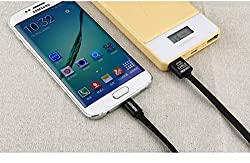 REBOOT® Micro USB Premium Charge / Data Sync Cable (1 Year Warranty ) - For Samsung LG Sony BlackBerry HTC Karbon Nokia Motorola xiomi coolpad lenovo & all Micro Support Phones (BLACK)