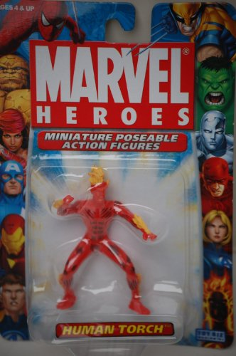 "Human Torch Marvel Heroes 2.5"" Poseable Action Figure - 1"