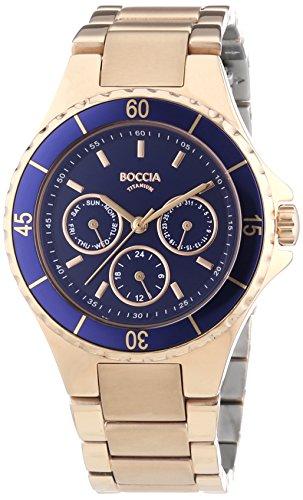 Boccia Titanium Women's Quartz Watch with White Dial Analogue Display and Gold Titanium 3760-01