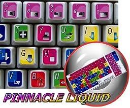 NEW PINNACLE LIQUID EDITION KEYBOARD DECALS