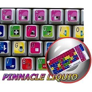 PINNACLE LIQUID EDITION KEYBOARD STICKER FOR DESKTOP, LAPTOP AND NOTEBOOK 4KEYBOARD