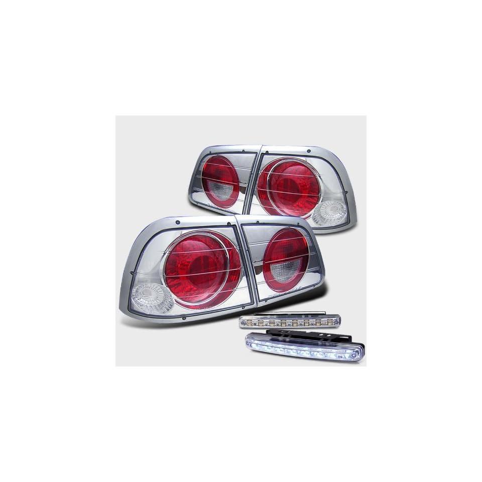 Rxmotoring 1998 Nissan Maxima Tail Lights + 8 Led Bumper Fog Light