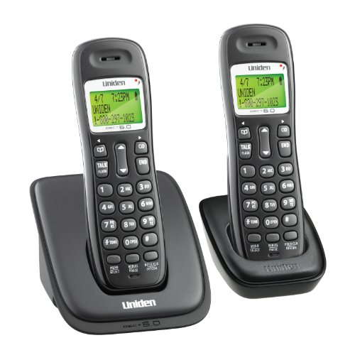 UNIDEN DECT1363-2 DECT 6.0 CORDLESS PHONE 2 HANDSETS, CALLER ID, 30-NUMBER PHONEBOOK