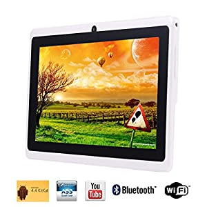 "Tagital® T7X 7"" Quad Core Android 4.4 KitKat Tablet PC, Bluetooth, Dual Camera, Play Store Pre-installed, 2014 est Model White (Enhanced Version of A23)"