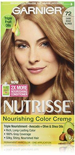 Garnier Nutrisse Nourishing Color Creme, 72 Dark Beige Blonde (Sweet Latte) (Packaging May Vary) (Beige Blonde Hair Color compare prices)