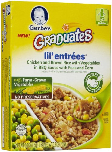 Gerber Graduates Lil' Entrees - Chicken & Brown Rice - 6.6 oz - 3 pk (Lil Graduates Entrees compare prices)