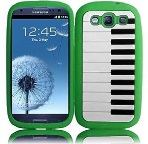 Samsung Galaxy S3 i9300, i747, L710, T999,i535 Piano Silicon Case - Neon Green