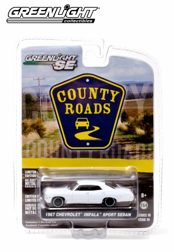 1967 Chevrolet Impala Sport Sedan * County Roads Series 10 * 2014 Greenlight 1:64 Scale Limited Edition Die-Cast Vehicle - 1