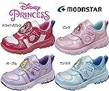 【ディズニー プリンセス】【ムーンスター】 子供靴 女の子 DN C1179 (16cm, ホワイト/ピンク)