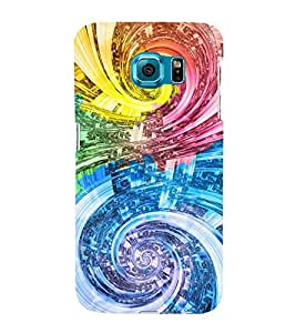 DUAL ELLIPTICAL PATTERN 3D Hard Polycarbonate Designer Back Case Cover for Samsung Galaxy S6 :: Samsung Galaxy S6 G920