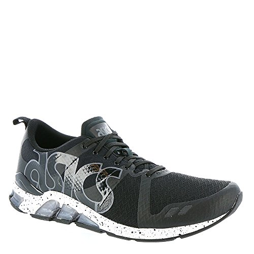 ASICS GEL Lyte One Eighty Retro Running Shoe, Black/White, 8.5 M US