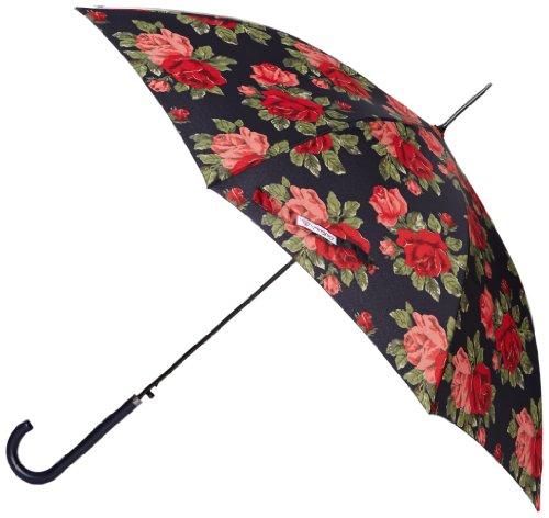 Cath Kidston by Fulton CK Riva Auto 2 Royal Rose Navy Women's Umbrella