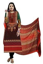 BalajiWomen's Cotton Unstitched dress material(1004-multicolor-free size)