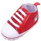 EOZY Zapatos Para Beb� Unisex Primero Paso Andar Mallas Rojo Cordones Oto�o Pirmavera Longitud 13cm