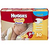Huggies Little Snugglers Diapers, Preemies, 30 Count