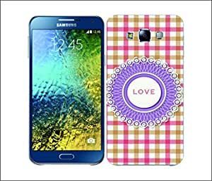 Galaxy Printed 1598 DAILY INSPIRATION LOVE Hard Cover for Samsung ACE 3 (7272)