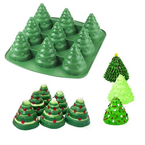Bluelover-3D-Weihnachtsbaum-Kuchen-Form-Silikon-Pltzchen-Schokoladen-Backen-Form