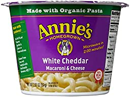 Annie\'s Homegrown Mac and Cheese Micro Cups: Single Pack - White Cheddar - 2.01 oz - 12 Pack