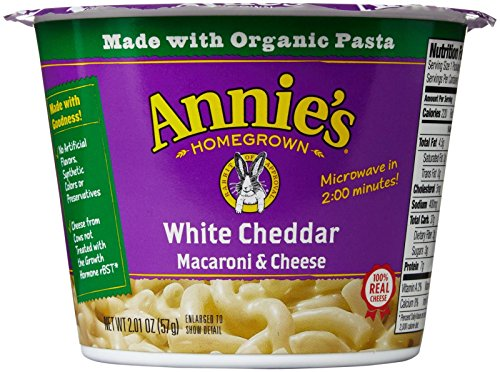Annie's Homegrown Mac and Cheese Micro Cups: Single Pack - White Cheddar - 2.01 oz - 12 Pack