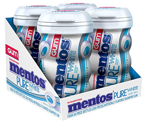 mentos-gum-big-bottle-curvy-pure-white-sweet-mint-50-pieces-pack-of-4