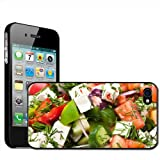 Greek Feta Cheese Salad Tomato Cucumber Hard Case Clip On Back Cover For Apple iPhone 4 4S