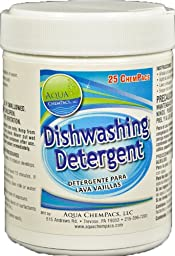 Aqua ChemPacs AQ619 Dishwashing Detergent, 0.423-Ounce Packet (25 Count)