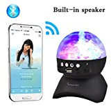 Stage Lights, Rotating Magic Effect Disco Ball Light With Wireless Bluetooth Speaker Mini Card Slot Rotating For KTV Xmas PartyClub Pub Disco DJ(No Remote Control)