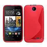 Sleek Gadgets® - Red S Line Gel Case Cover for HTC Desire 310