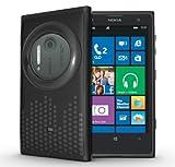 TUDIA Ultra Slim Melody Series TPU Protective Case for Nokia Lumia 1020 / Nokia EOS (Black)