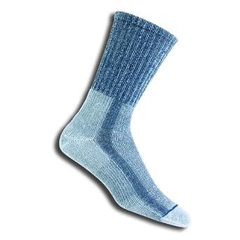 Thorlo Women's Moderate Cushion Coolmax Lt Hiker Crew Sock,Slate Blue,Size Large (9.5-11)