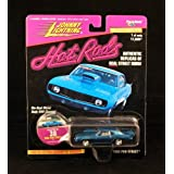 1969 Pro Street * Blue * Johnny Lightning 1997 Hot Rods 1:64 Scale Die Cast Vehicle