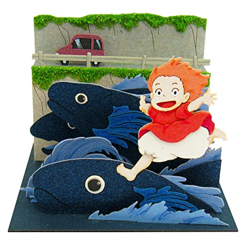 Ponyo MP07-39 scale papercraft Ponyo close friendship on the Studio Ghibli mini cliff top