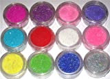 51E yanlG1L. SL160  Zluxe 12 Color Glitter Sparkle Powder Nail Art Makeup Body Painting
