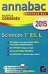 Annales Annabac 2015 Sciences 1re ES,...