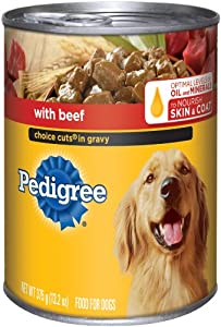 PEDIGREE CHOICE CUTS in Gravy With Beef Canned Dog Food 13.2 Ounces (Four 6-Can Cases)