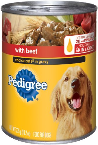 Pedigree Choice Cuts in Gravy with Beef Food for Dogs, 13.2-Ounce Cans (Pack of 24)