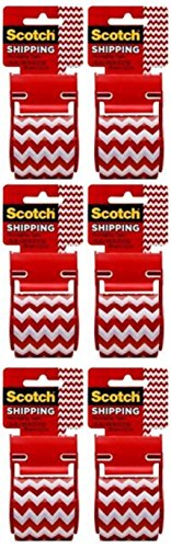 Scotch Decorative Shipping Packaging Tape, 1.88 x 500 Inches, 6 Rolls (Zig Zag) (Decorative Packaging compare prices)