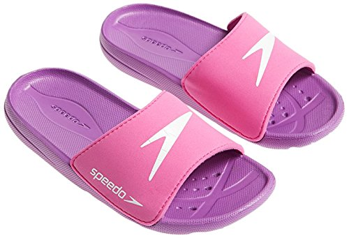 Speedo Atami Core Sld Jf Scarpe, Pink/Purple/White, 11 UK (29,5 IT)