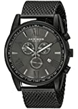 Akribos XXIV Men's AK813BK Analog Display Swiss Quartz Black Watch