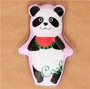 Poche de gel réfrigérant, panda noir et blanc avec un melon