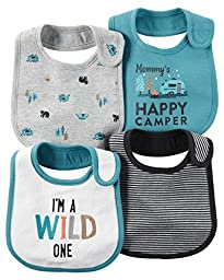 Carter\'s Baby Boys Teether Bibs 126g273, Turquoise, One Size