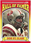 1990 Score #596 Bob St. Clair Football Card