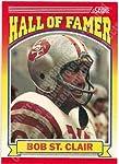 1990 Score #596 Bob St. Clair Football Card