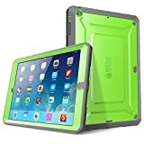 iPad Air Case, SUPCASE Heavy Duty Beetle Defense Series Full-body Rugged Hybrid Protective Case Cover with Built-in Screen Protector for Apple iPad Air (Green/Gray, not fit iPad Air 2)
